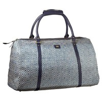 Navy and Sand Weekender Bag