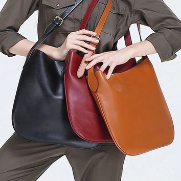 Candy Color Leather Bag