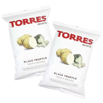 Free Shipping 6-Pack Large Black Truffle Chips by Torres, 6 x 4.4 oz