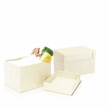 Furinno Rectangular Foldable Storage Stool Ottoman, Set of Two, Ivory