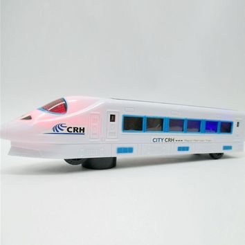 Electric Bullet Train Toy LED Flashing Lights Sounds Vehicles Train Model Remote Control Toys Child Kids Birthday Christmas Gift