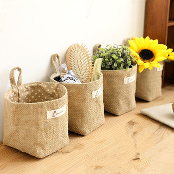 General cloth art flower pot small bag hanging type cloth bag, flower basket, storage basket, hanging bag