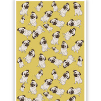 Pug Life Pattern Poster