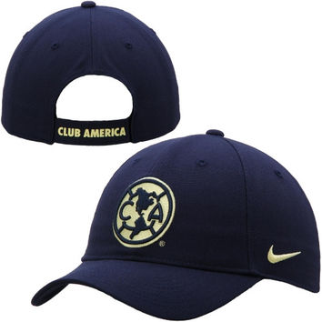 Club America Nike Crest Core Adjustable Hat - Navy Blue - http://www.shareasale.com/m-pr.cfm?merchantID=7124&userID=1042934&productID=546240302 / Club America