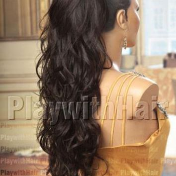 AWESOME Hair Piece Extensions Cappucino Brown