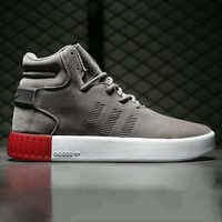 Adidas tubular invader strap Fashion Men Running Sport Casual High Top Shoes Sneakers Grey G-A0-HXYDXPF-1