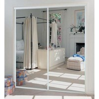 TRUporte, 230 Series 48 in. x 80 in. Steel White Mirror Sliding Door, 341400 at The Home Depot - Tablet