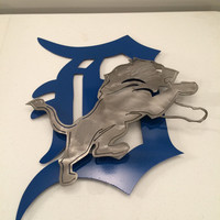 Detroit lions 2D wall art, metal sign, custom