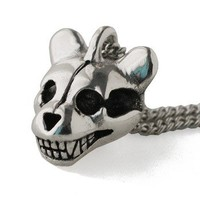 Handmade Gifts | Independent Design | Vintage Goods Teddy Bear Skull Necklace - Dark Side of Style