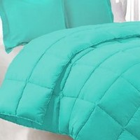 Bed In A Bag 5-Piece with Cotton Sheets - Twin/Twin XL, Turquoise