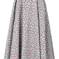 Rochas Jacquard Rose Patterned Skirt - Farfetch