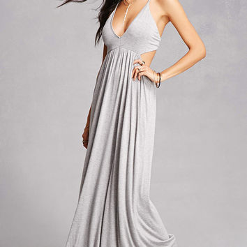 Plunging Maxi Cami Dress