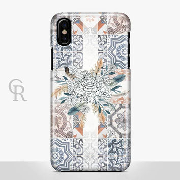 Boho Mosaic Phone Case For iPhone 8 iPhone 8 Plus - iPhone X - iPhone 7 Plus - iPhone 6 - iPhone 6S - iPhone SE - Samsung S8 iPhone 5 Floral