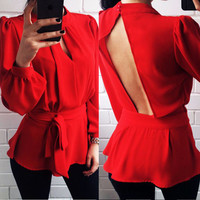 Women Clothes Long Sleeve Shirt Coat Pullover Jumper T-Shirt Top Blouse Clothing
