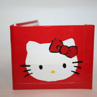 Hello Kitty duct tape wallet