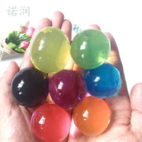 20pcs/lot 30-50mm Big Crystal Soil Mud Hydrogel Gel Kids Toy Water Beads Growing Up Water Balls Wedding Home Flower Decoration