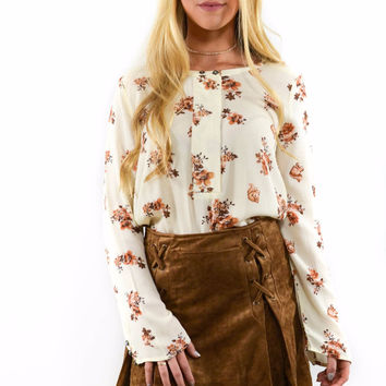 Chinatown Ivory Floral Top