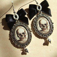 $22.79 Skull EarringsGothic EarringsAltered Art by FragileEliteDesign