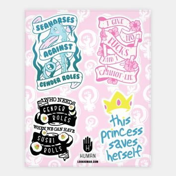 Cute Feminism Stickers