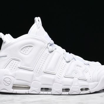 Best Sale AIR MORE UPTEMPO '96 'WHITE ON WHITE PACK'