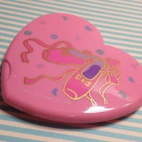 80's Sanrio Ballet shoe Pink Mirrored Compact Purse nice New old stock so kawaii By niftyvintagegirl from Niftyvintagegirl