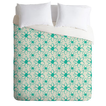 Allyson Johnson Mod Flowers Duvet Cover
