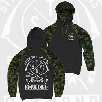 Stick To Your Guns - Diamond Hoodie (Black/Camo)