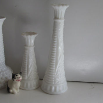 Hobnail Milk Glass Vase Wedding Table Decor Milkglass Glass Milk Glass Rose Vase White Bud Vase Faux Milk Glass White Vase