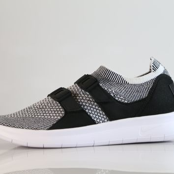 BC QIYIF Nike Womens Air SockRacer Flyknit Black White 896447-002