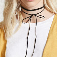 Faux Suede Bow Choker Set