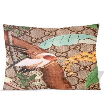 """GUCCI LOGO PATTERN BIRD printed Pillow Case 16x24"""" 18x26"""" Two Side Picture"""