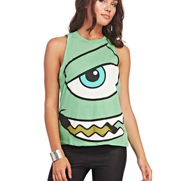 Monsters, Inc.™ Mike Face Tank | Wet Seal