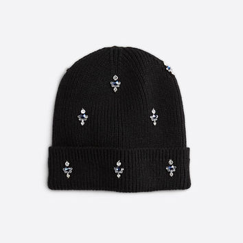 Embellished Knit Hat | Ann Taylor