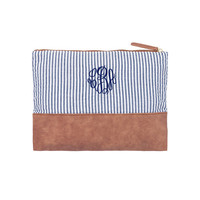 CUSTOM Monogram Zip Pouch -- Makes a Great Gift, perfect for on the go!