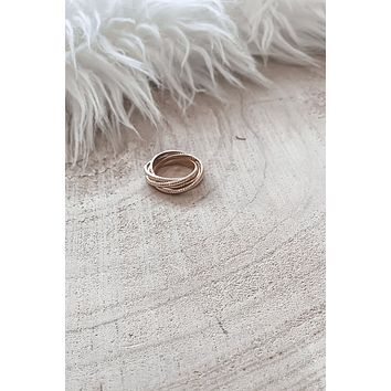 All The Layers Gold Statement Ring