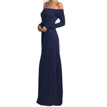 Craven Off-Shoulder Maxi Dress
