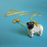 It's A Pug's Life Pug Necklace | Eclectic Eccentricity Vintage Jewellery