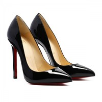 WH CHRISTIAN LOUBOUTIN Pigalle 120mm Black Patent