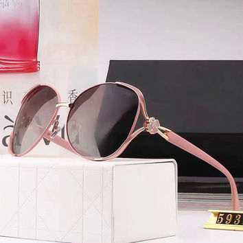Ladies Elegant Stylish Hollow Out Pink Sunglasses [10155818695]