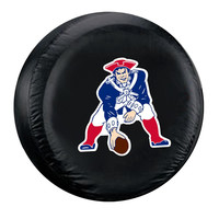 New England Patriots NFL Throwback Spare Tire Cover (Large) (Black)
