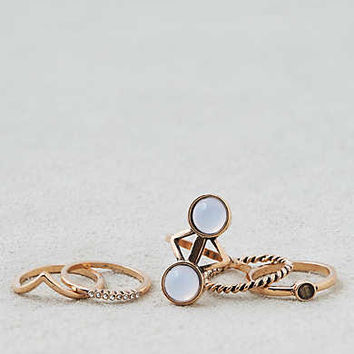 AEO Double Opal Stone Rings , Gold