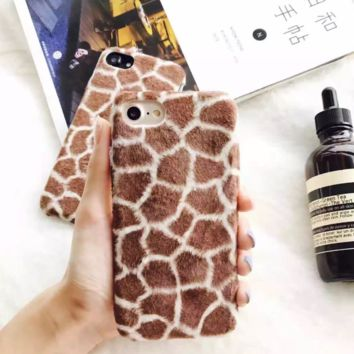 Giraffe Plush Iphone 7 7Plus &6 6S Plus Cover Case + Nice Gift Box