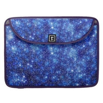 Pretty Blue White Pattern Sleeve For MacBook Pro