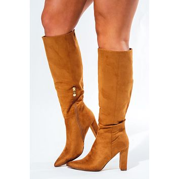 Take The Stage Boots: Camel