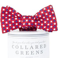 Freedom Stars Bow Tie in Red by Collared Greens