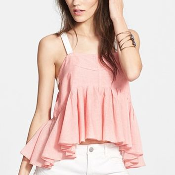 Women's Free People 'Lola's' Stripe Peplum Tank,