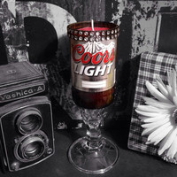 Coors Light Beer Bottle Candle