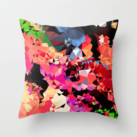 Geometric Throw Pillow Cover, Multicolored Pillow Cover, Geometric Print Pillow Cover
