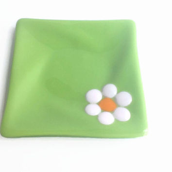Candle Plate - Fused Glass Plate - Glass Plate