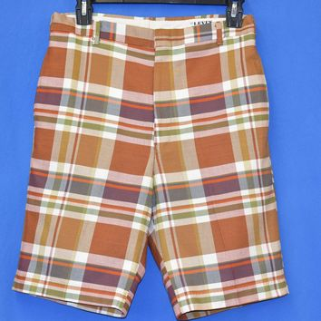 60s Levi's Sta-Prest Plaid Men's Shorts Size 30